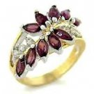 Waterfall Crystal Amethyst 16 Stone Setting Ring  2W001