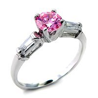 Pink Ice Russian CZ Ring