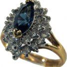 Marquise CZ Sapphire Cocktail Ring