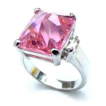 Pyrmaid Cut Pink Ice Ring 4+ Carats