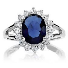 Kate And Diana Sapphire Engagement Ring OW389