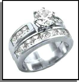 Channel Set CZ Wedding Set 6X140