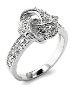 Sparkling Love Knot Ring 71501