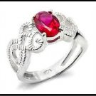 Diamond Cut Filigree Ruby Ring 70311