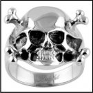 Skull And Crossbones Steel Ring SR-569