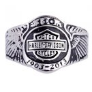 110th Anniversary Wing  Motorcycle Stainless Steel Ring TP-02-06