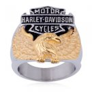 Motorcycle Eagle Biker Stainless Steel Ring 892-TP