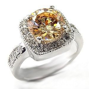 Sparkling Champagne Russian CZ Ring 7X323