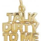 """Talk Dirty To Me"" Pendant In Gold Or Rhodium  w-166"