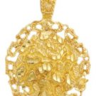 Gold Nugget Filigree Pendant LG-40