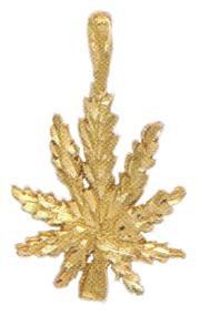 Herb Leaf Pendant In Gold Or Rhodium AF-6
