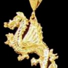 Dragon Pendant In Gold Or Rhodium smj-5