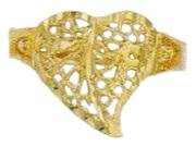 Filigree Heart Ring Gold or Rhodium Layered LN-26