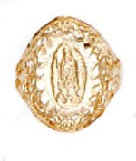 """Our Lady Of Guadalupe"" Ring Gold Or Rhodium Layered LN-30"
