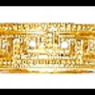 Wedding Band CZ Ring Gold Layered LR-73