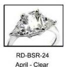 April Rhodium Layered Clear CZ Ring RDBSR-24