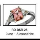 June Birthstone Ring Alexandrite CZ  RDBSR-26