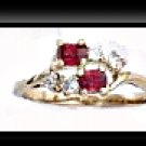 January Birthstone Garnet CZ Ring BSR-1