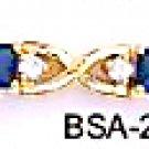 September Birthstone Sapphire CZ Bracelet BSA-29