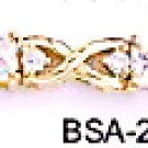 April Birthstone Clear CZ Bracelet BSA-24