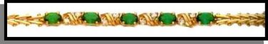 May Birthstone Emerald CZ Bracelet BSA-5