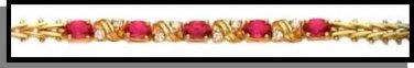 July Birthstone Ruby Red CZ Bracelet BSA-7