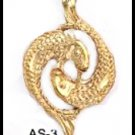 PISCES February 19 To March 20 Astrology Pendant AS-3