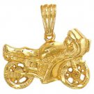 Motorcycle Pendant Gold Layered LG-22