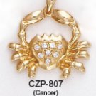 Cancer (Moonchild), June 21 To July 22 Astrology CZ Pendant CZP-807