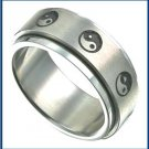 Stainless Steel Ying Yang Spinner Ring M32-R7056