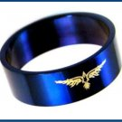 Stainless Steel  Golden Eagle Blue Ring 716 AL