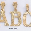 Initial Large Diamond Cut Pendants A-Z S-800