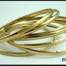 Semanario Set of 7 Bangle Bracelet Gold Or Rhodium  BNB-73