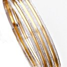 Gold And Rhodium Layered Bangle Bracelet Set  BNB-91A