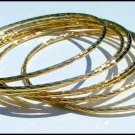 Gold Or Rhodium Layered Bangle Bracelet Set  BNB-7