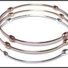 Set of 3 Bangle Bracelet Tri Color  BNB-122