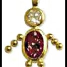 January Boy Birthstone Baby Gold Layered CZ-2