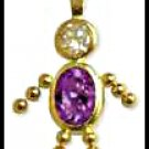 February Boy Birthstone Baby Gold Layered CZ-4