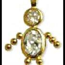 April Boy Birthstone Baby Gold Layered CZ-8