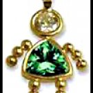 May Girl Birthstone Baby Gold Layered CZ-9