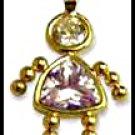 June Girl Birthstone Baby Gold Layered CZ-11