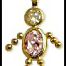 June Boy Birthstone Baby Gold Layered CZ-12