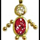 July Boy Birthstone Baby Gold Layered CZ-14