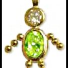 August Boy Birthstone Baby Gold Layered CZ-16