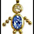 September Boy Birthstone Baby Gold Layered CZ-18