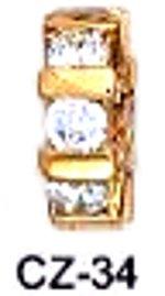 April Imitation Diamond  Birthstone Wheel  Charm CZ-34