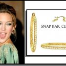 KATE HUDSON'S Gold Layered CZ HOOP EARRINGS CZE-279