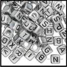 Baby Alphabet Blocks Silver Colored H20-5422PB  4 Pieces