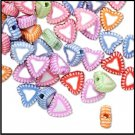 Rainbow Colored Acrylic Hearts H20-2597PB