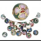 Multicolored Cloisonne 6mm Beads  H20-3700PB